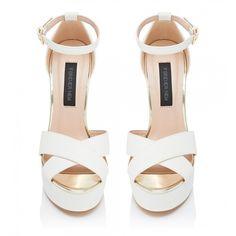 Karolina Platform Heels ❤ liked on Polyvore featuring shoes, sandals, heels, sapato, zapatos, karolina, platform shoes, platform sandals, heeled sandals and platform heel sandals