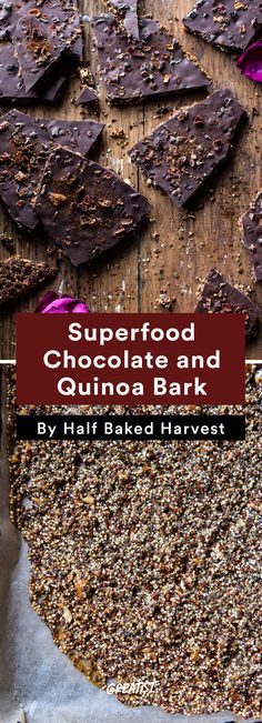 3. Superfood Chocolate and Quinoa Bark #healthy #travel #snacks http://greatist.com/eat/healthy-snack-recipes-to-take-on-vacation