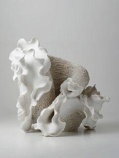 Porcelain sculpture by Noriko Kuresumi.