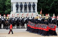 Ceremony: The King's Troop Royal Horse Artillery provided a 41-gun salute in Green Park to mark the Queen's official birthday before the royals appeared for the traditional RAF flypast