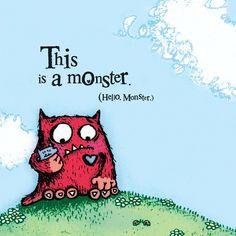 Interior Spread Roundup: Love Monster by Rachel Bright