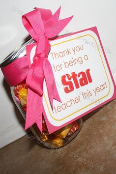 """Teacher Appreciation Tags for Starburst - """"Thank you for being a Star teacher this year!"""""""