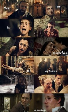 """""""They are les miserables-the outcasts, the underdogs."""" -Victor Hugo :((("""