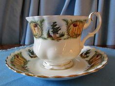 royal albert knotty pine | Royal Albert Bone China Knotty Pine Teacup by TabernashTreasures