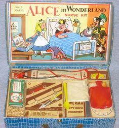 Vintage Alice In Wonderland Nurse Kit.