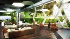 Rezidenční část Vážky. foto: Vincent Callebaut Architectures