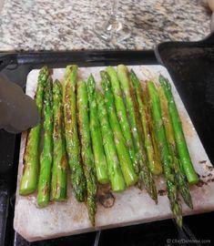 Himalayan Salt Block Cooked Lamb and Asparagus Recipe | ChefDeHome.com