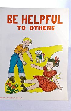 Vintage School Poster - Always Do Your Best - Good Manners ...