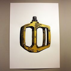Classic Shimano DX Screen Printed Poster in Metallic Gold