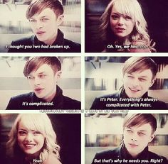 """""""I don't want things to be complicated between us just keep it simple!"""" (Gwen Stacy)"""