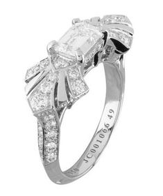 Van Cleef & Arpels Engagement Ring | From asscher to round, take a peek at the elegant options for engagement rings.