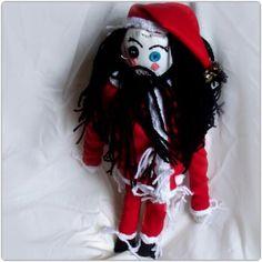 Feastive Bloke (like Santa) handmade Rag Doll and 3 Globlins, not toys £90.00