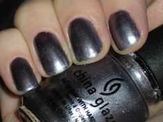 A blast from the past: China Glaze's Avalanche...a lilac/gunmetal metallic