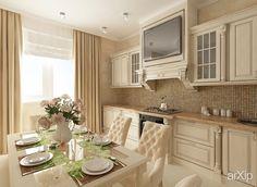 Интерьер кухни интерьер, зd визуализация, назначение - квартира, дом | тип - кухня | площадь - 20 - 30 м2 | стиль - неоклассика | ценовой сегмент - средний | предмет - интерьер. Разместил Беспалая Юлия на портале arXip.com