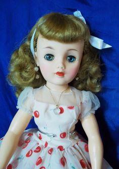 "20"" Ideal Miss Revlon in Original  ""Cherries"" Dress"