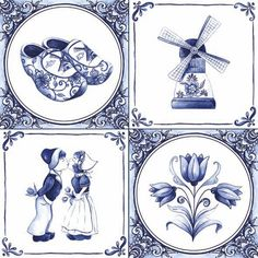 Netherlands clipart windmill - pin to your gallery. Explore what was found for the netherlands clipart windmill Delft Tiles, Blue Tiles, Blue And White China, Love Blue, Dutch Tattoo, Tulip Tattoo, Thinking Day, Marianne Design, China Painting