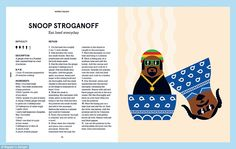 Snoop stroganoff and Notorious P.I.G: Rappers delight cookbook #dailymail
