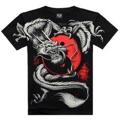052da478fcc Men s 3D Summer Style Cotton T Shirt - Here Be Dragons Shop Rock T Shirts
