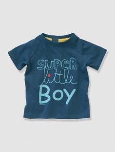 Baby Boy's T-shirt with motif on the front Grey marl+Midnight blue+Turquoise+White