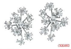 wild bouquet radiant鑽石耳環展現層次感。317萬元