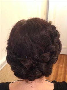 Crown braids short hair