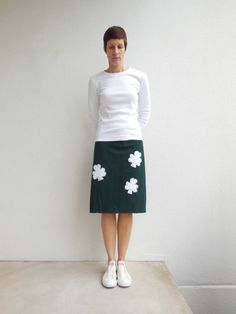 T Shirt Skirt Womens Tee Skirt Four Leaf Clover Hunter by ohzie