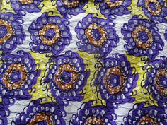 African Wax Print Fabric by the HALF YARD  Floral by MoreLoveMama, $4.50