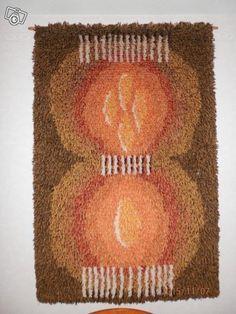 Kehrä ryijy Rya Rug, Floor Rugs, Handmade Rugs, Crochet Hats, Carpet, Flooring, Blanket, Wall, Design