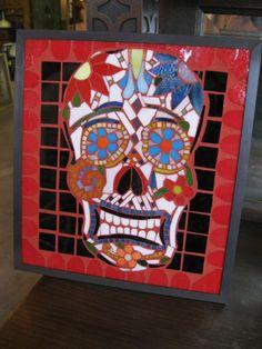 CUSTOM Stained Glass Mosaic por SequentialGlass en Etsy