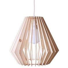 Lampara Colgante De Techo Moderna Madera Mdf Diseño - $ 399,99