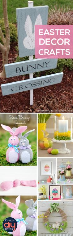 Save money and make your own Easter DIY crafts! Here is a compilation of the best DIY crafts for Easter out there. They are adorable and easy! Easter Crafts For Kids, Easter Projects, Craft Projects, Hoppy Easter, Easter Bunny, Diy Easter Decorations, Easter Centerpiece, Centerpiece Ideas, Spring Crafts