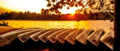 Canoes at Sunset, Algonquin Park, ON, Canada