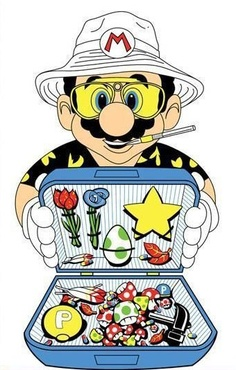 Tagged with gaming, mario; Fear and Loathing in Super Mario World Arte Dope, Dope Art, Mario Bros, Mario Brothers, Drawn Art, Stoner Art, Weed Art, Fear And Loathing, Super Mario World
