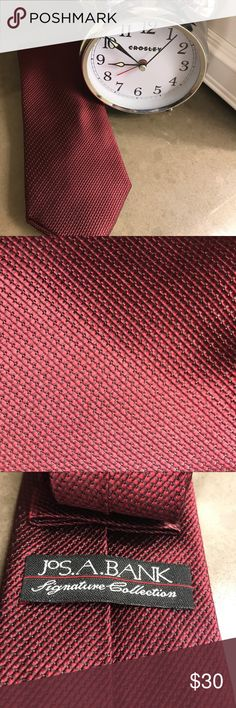 Jos. A. Bank tie NWOT, never worn beautiful tie. Black and red/burgundy. 🚭🏡✅🐶 Jos. A. Bank Accessories Ties