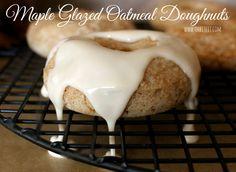 ~Maple Glazed Oatmeal Doughnuts!