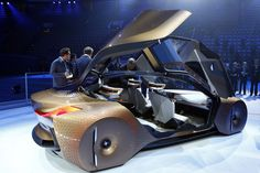 German car manufacturer BMW presents the 'Vision Next 100' concept car during the 100th anniversary celebrations in Munich, Germany, Monday, March 7, 2016
