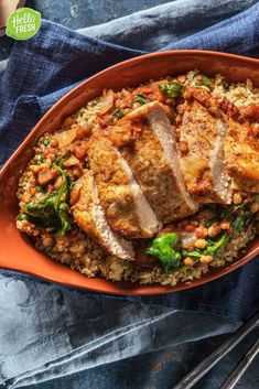 Toss Israeli couscous with summer veggies for a quick and tasty dinner Hello Fresh Recipes, Ras El Hanout, Food Court, World Recipes, Foodies, Curry, Veggies, Tasty, Favorite Recipes