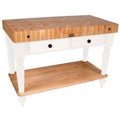 "48"" W Cucina Rustica Kitchen Cart with Shelf by John Boos"