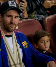 Leo and Thiago together in the stands to watch Barcelona's clash with inter. Leonel Messi, Messi 10, Super Sport, Fc Barcelona, Soccer, Football, My Love, Boss, Smile