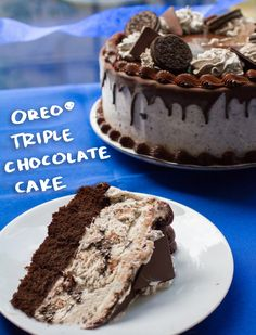 Make dad feel extra special this Father's Day with an extra special OREO® Triple Chocolate Cake. This delectable dessert is just what dad deserves. This irresistible cake features a chocolate, OREO® infused frosting, topped with a mouth-watering waterfall of dark chocolate, a fudge border and alternating goodness of OREO® cookie, frosting dollops and chocolate triangles.