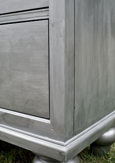 #RestorationHardware faux #zinc DIY painting tutorial - totally treating the dresser I just bought, which currently has a chestnut finish with ANTIQUING that I abhor :/