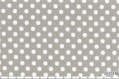 Lecien - Japanese Fabric - White on Grey polka dots