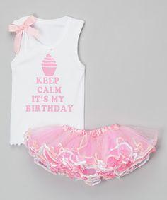 Look what I found on #zulily! Pink 'It's My Birthday' Tank & Tutu - Infant, Toddler & Girls #zulilyfinds