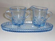 paden city glass | ... sugar and creamer with tray .... Depression glass , paden city largo