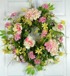 Vintage Victorian Flower Wreath  Victorian by GaslightFloralDesign