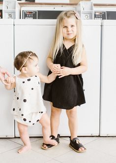 Tun-Tun Kids Swing Top and Bloomer Set - Spots // shop Row^10, clothing for the modern baby // laundromat photoshoot