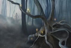 cursed woods - by Linda Bergkvist | Featured Artist on the Fantasy Gallery