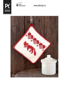 Dagens gratisoppskrift: Gryteklut i Petunia Homer Decor, Knit Dishcloth, Petunias, Washing Clothes, Pot Holders, Christmas Stockings, Needlework, Knit Crochet, Diy And Crafts