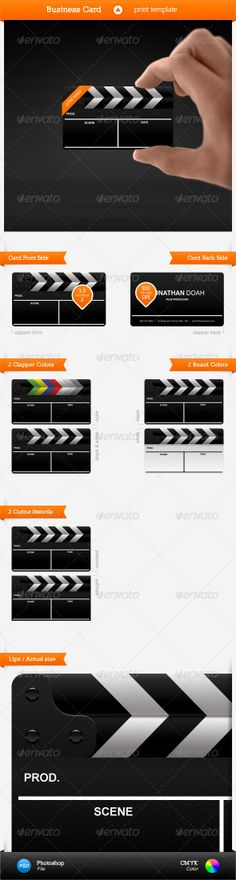 Film Business Card Template