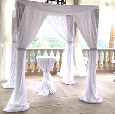 Satin Crepe Chuppah with Silver Bling from www.chuppah.ca